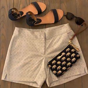 Cache Silver & White Shorts Size 6